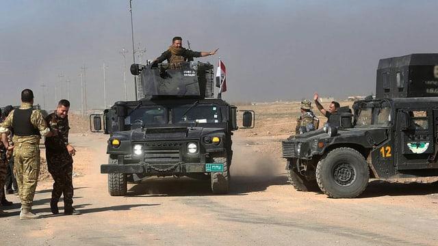 Irakische Spezialeinheiten in Gefährten