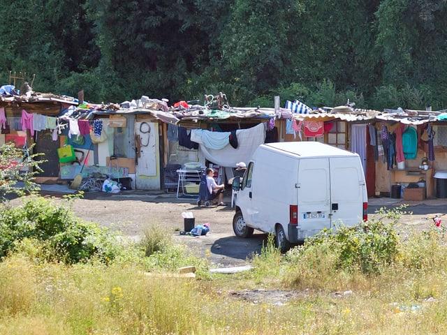 Roma-Siedlung in Frankreich
