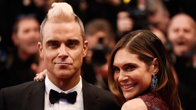 Robbie Williams mit Frau Ayda Field