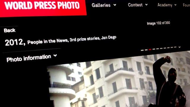 Ein Bild der Webseite von World Press Photo.