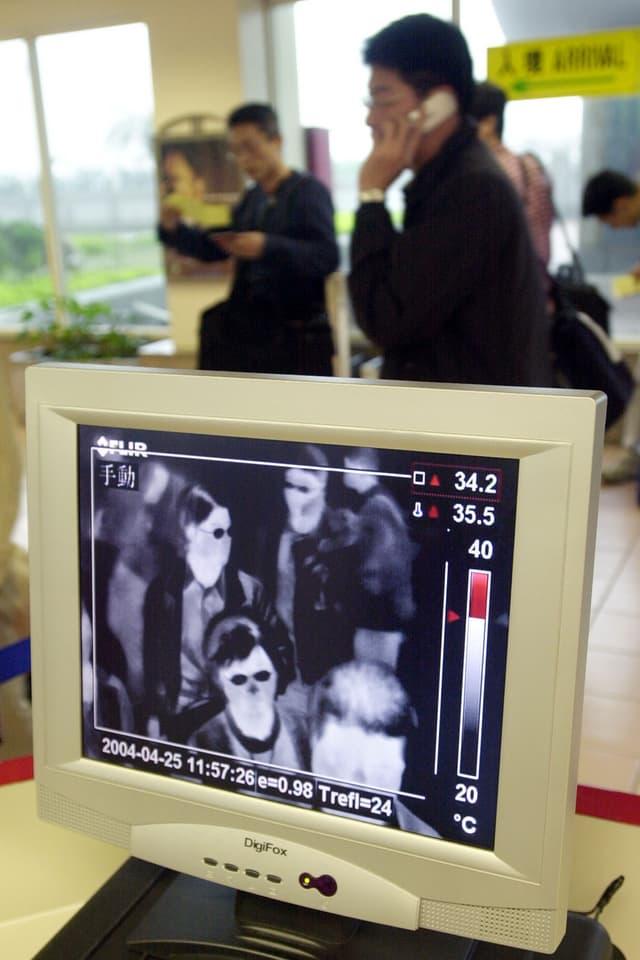 IR-Aufnahme 2004 auf einem Flughafen in Taiwan
