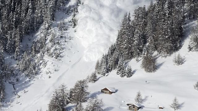 lavina en ina spunda da test cun guaud en il chantun Vallais