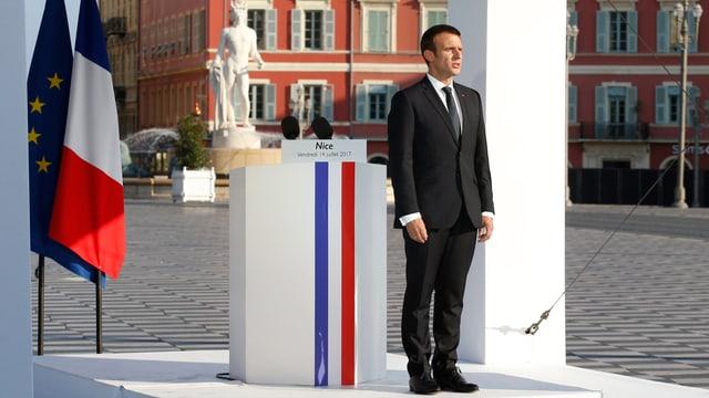 Emmanuel Macron in Nizza.