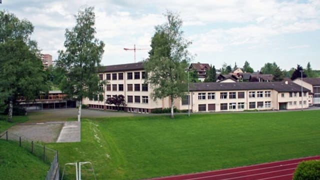 Das Schulhaus Staffeln in Reussbühl.
