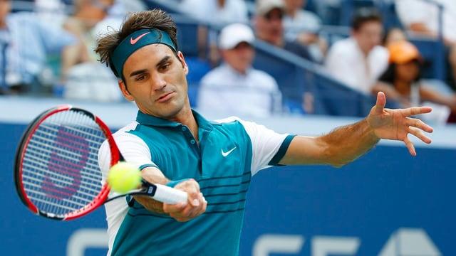 Il giugader da tennis svizzer Roger Federer en acziun.