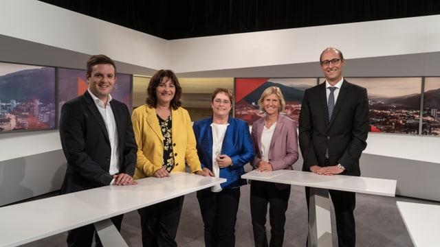 3 umens e 2 dunnas van a Berna: Jon Pult (PS), Anna Giacometti (PLD), Magdalena Martullo-Blocher (PPS), Sandra Locher Benguerel (PS), Martin Candinas (PCD)