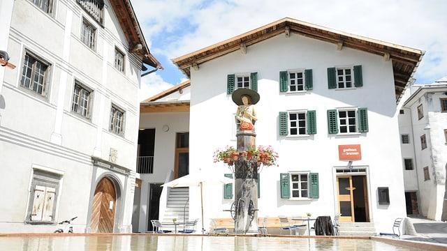 Il Gasthaus am Brunnen a Valendau.