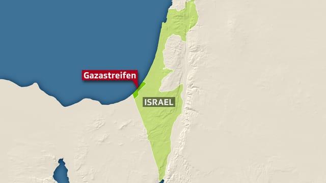 karte Gazastreifen