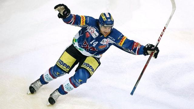 Chris Campoli jubelt in der neuen Saison für den HC Lugano.