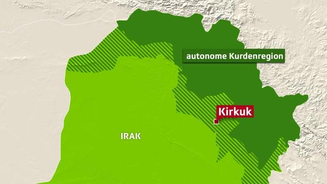 Karte von Nordirak.