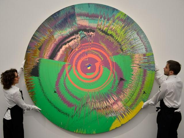 «Beautiful, hallo, space-boy painting», ein Werk von Damien Hirst and David Bowie.