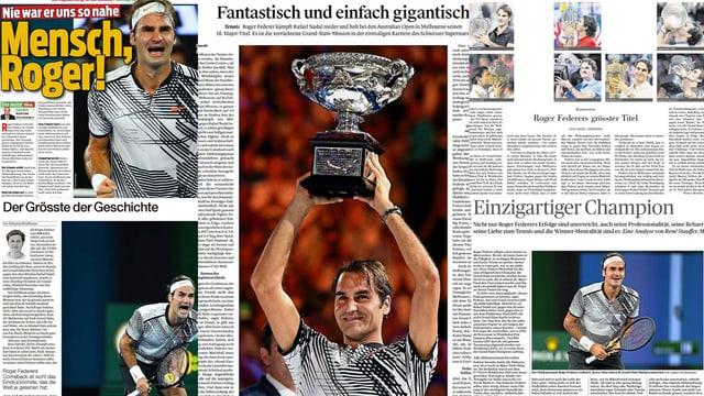 Die Schweizer Zeitungen loben Roger Federer.