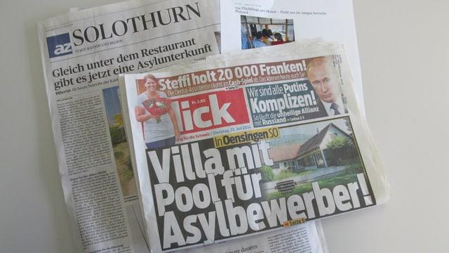 Foto vom Blick und der Solothurner Zeitung.
