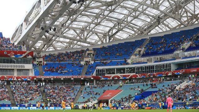 Der Zuschauerandrang am Confed Cup hält sich in Grenzen.