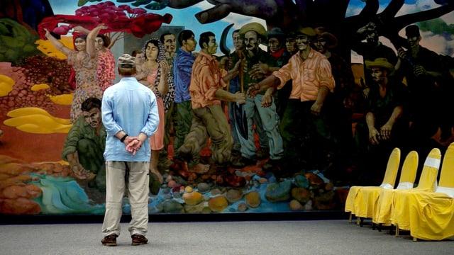 Jean Ziegler auf Kuba.