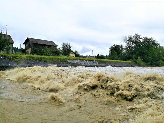 Schlammiger Fluss