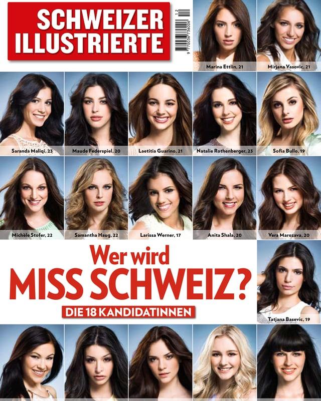 Diese 18 Kandidatinnen wollen die schönste Frau der Schweiz werden.