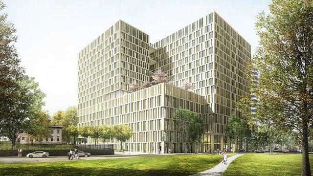 Visualisierung des Gebäudes.