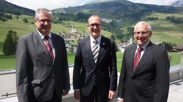 Gion Cola, Christian Rathgeb e Clemens Poltera