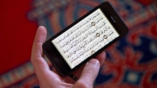 Koranverse auf einem iPhone.