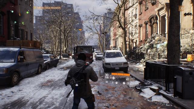 Agent Tyrone in einer Nebenstrasse Manhattans.