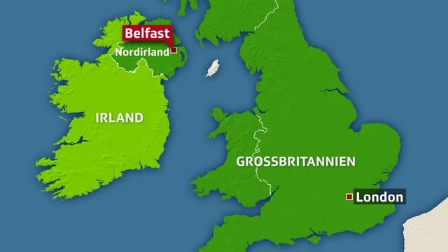 Karte Nordirland