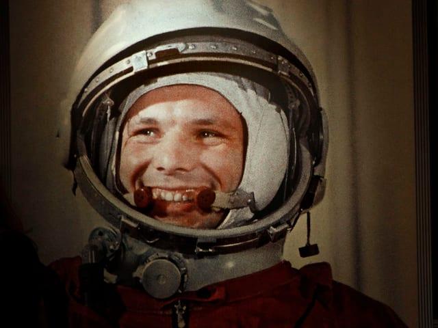 Lächelnder Gagarin.