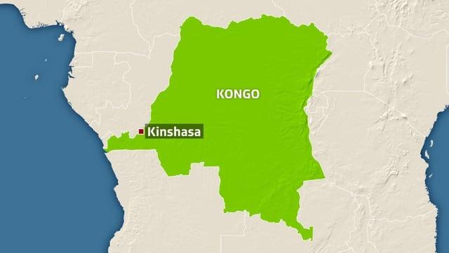 Karte Kongo.