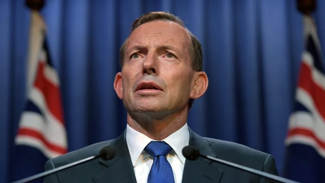 Il primminister australian Tony Abbott vi dal discurrer.