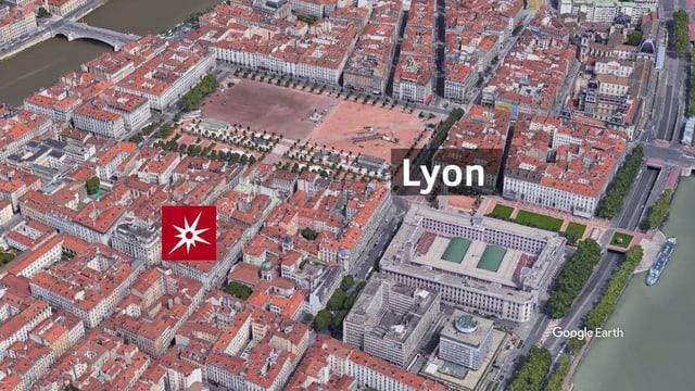 Karte von Lyon.