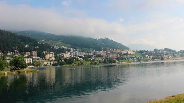 St. Moritz an einem Sommertag.