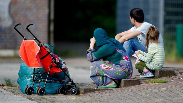 Ina famiglia da fugitivs a Hamburg.