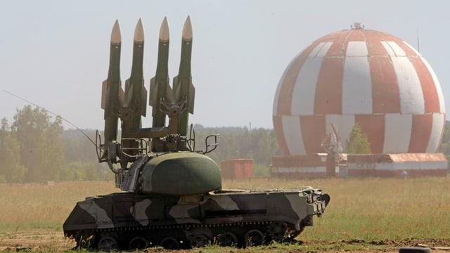 Raketen auf einer Lafette