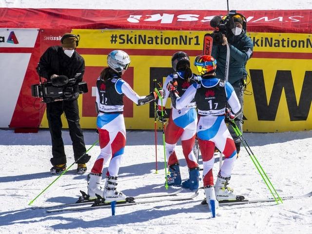 Insgesamt fanden 101 Athleten und Athletinnen Unterschlupf in einem Swiss-Ski-Kader.
