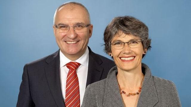 Daniel Münger und Regula Nebiker, Kandidaten der SP