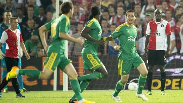 Krasnodar setze sich auf seinem Weg in die Gruppenphase mit dem Gesamtskore von 3:1 gegen Feyenord durch.