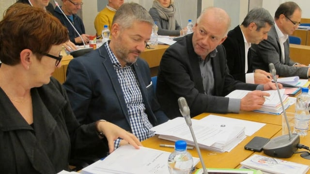 Martin Wey an einer Sitzung des Oltner Stadtparlaments