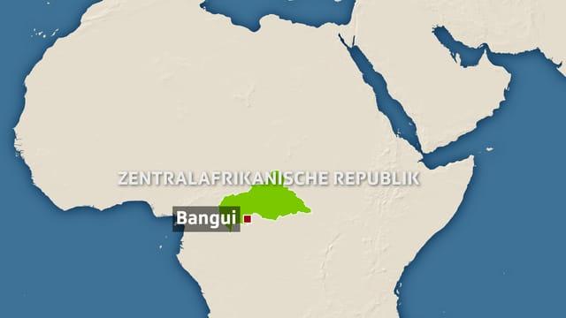 Grafik der Zentralafrikanischen Republik.