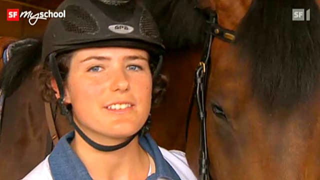 Video «Berufsbild: Pferdefachfrau EFZ» abspielen