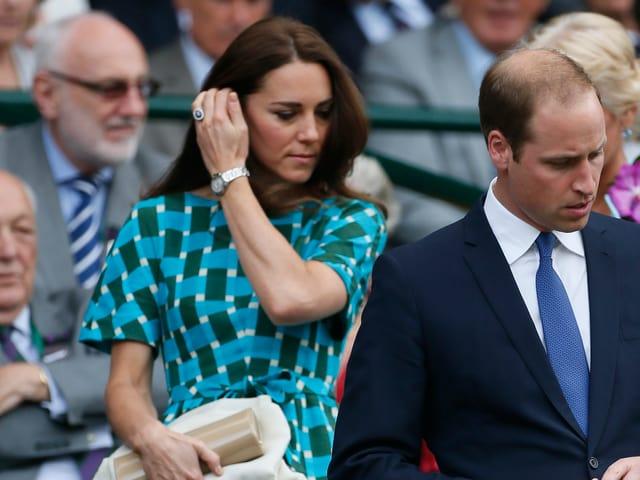 Herzogin Kate und Prinz William beim Wimbledon-Turnier.