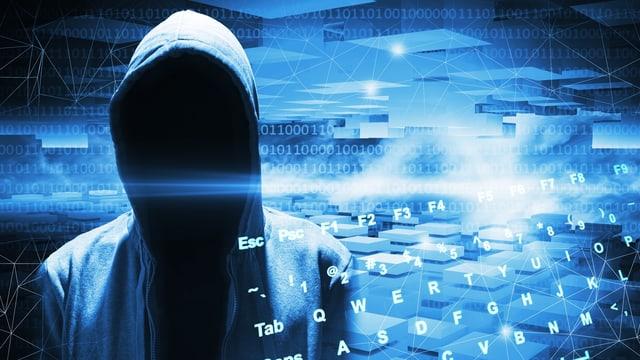 Illustration mit anonymem Hacker
