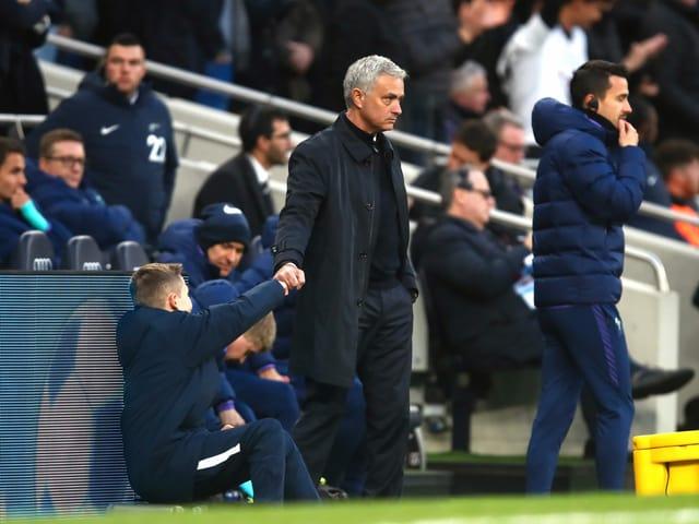 José Mourinho an der Seitenlinie.