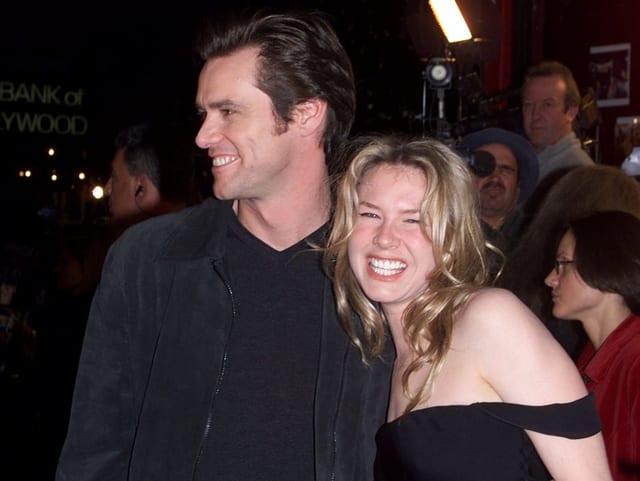 Jim Carrey und Renée Zellweger auf dem roten Teppich