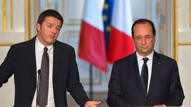 Matteo Renzi e François Hollande.