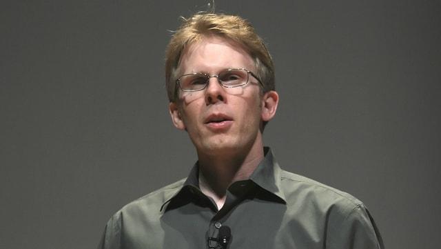 John Carmack während einer Pressekonferenz im Jahr 2008.