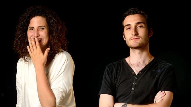 Video «Bewährungsprobe vor Publikum – Annabelle und Tristano (Folge 3 - Dreizehn Schauspielschüler)» abspielen