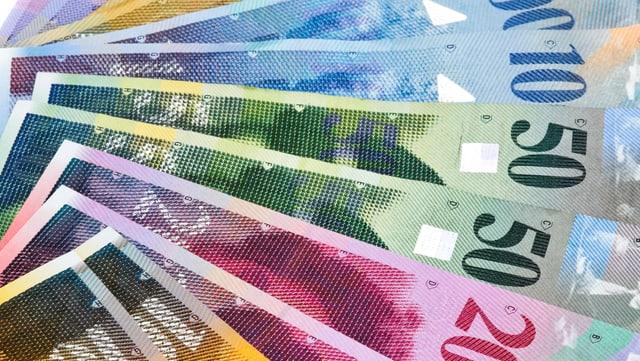 Geldnoten als Fächer