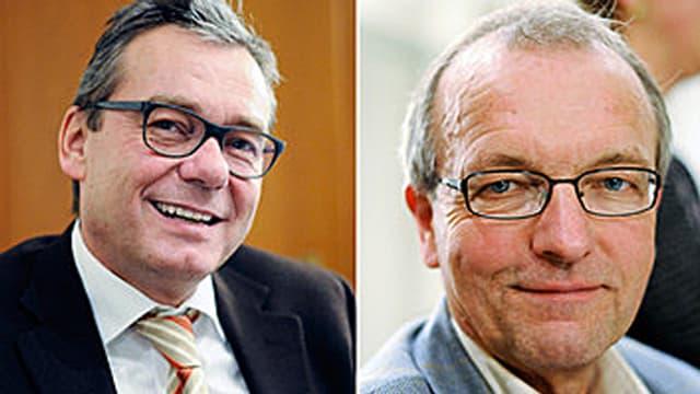 Ruedi Noser (links) und Hans-Jürg Fehr.