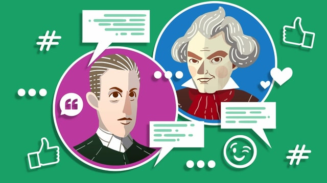 Illustration von Beethoven und Erzherzog Rudolph