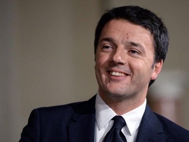 Porträt von Matteo Renzi.
